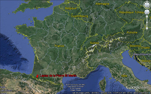 Localisation du Lapiaz de la Pierre Saint Martin (Pyrénées Atlantiques)