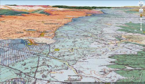 Carte géologique du Bois de Païolive (Ardèche)