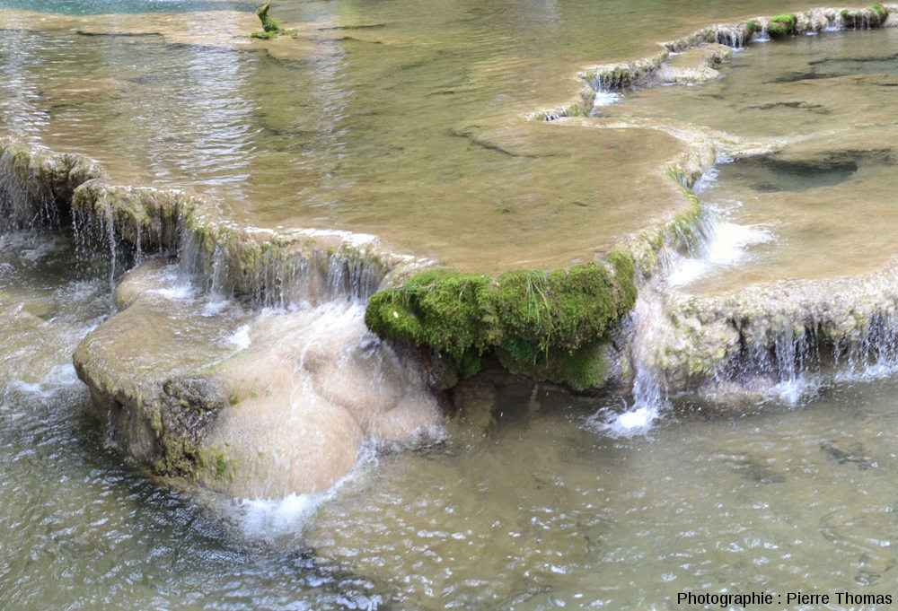Barrages et gours amont, Reculée des Planches (Jura)
