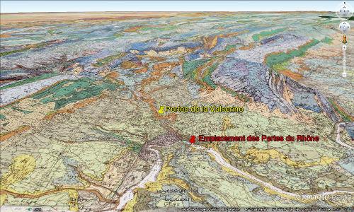 Cadre géologique des pertes du Rhône et de la Valserine