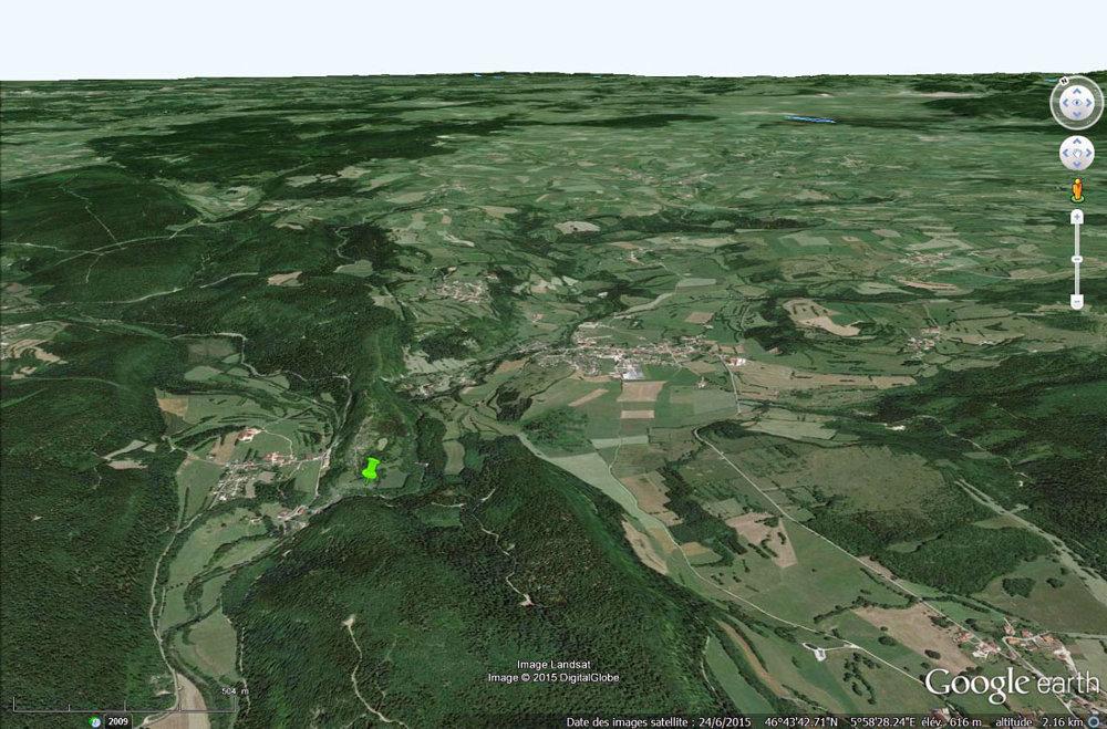 Le secteur des pertes de l'Ain, communes de Bourg-de-Sirod et de Sirod (Jura)