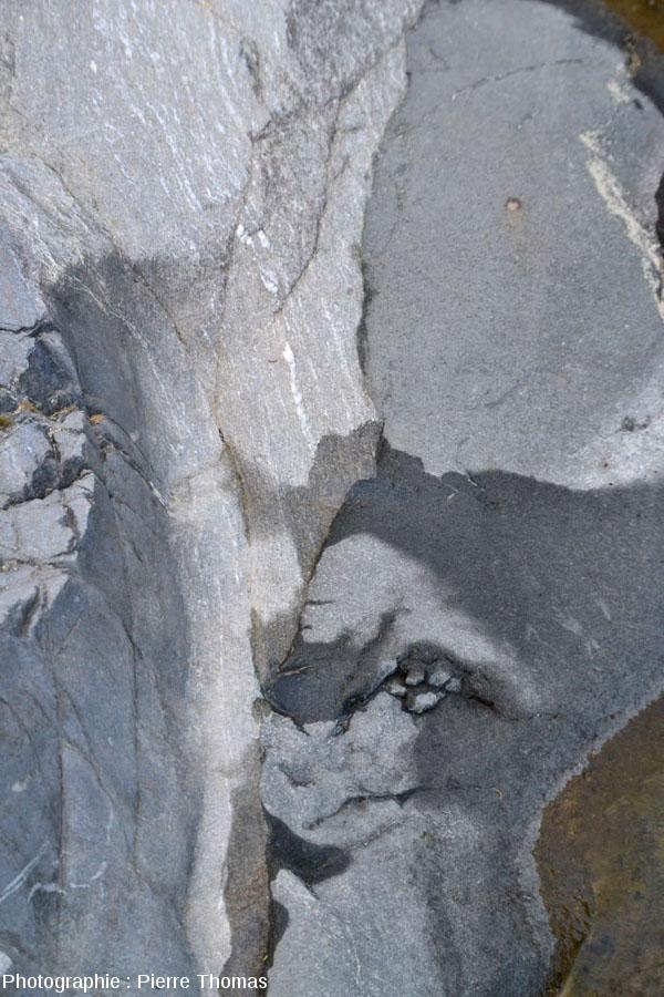 Zoom sur la pointe Est du filon andésitique principal, Val d'Aoste, Italie