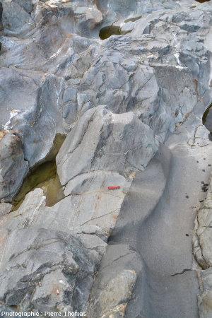 Vue sur le centre du filon andésitique principal, Val d'Aoste, Italie