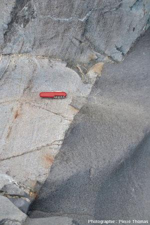 Zoom sur le centre du filon andésitique principal, Val d'Aoste, Italie