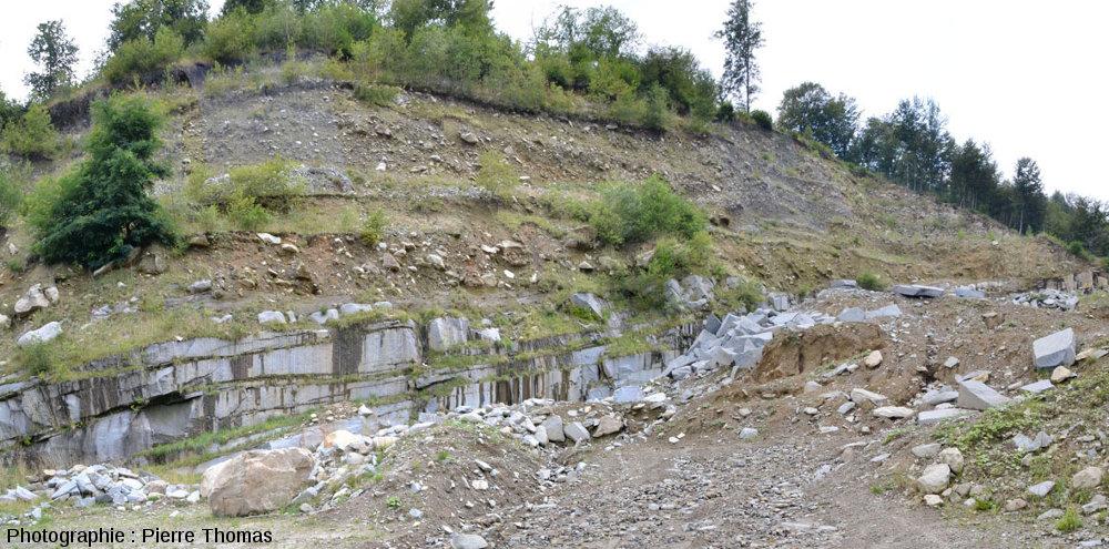 Une carrière de diorite dans le massif de Traversella (Piémont, Italie)