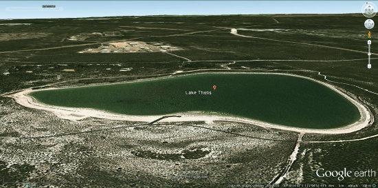 Vue aérienne du lac Thetis, Australie