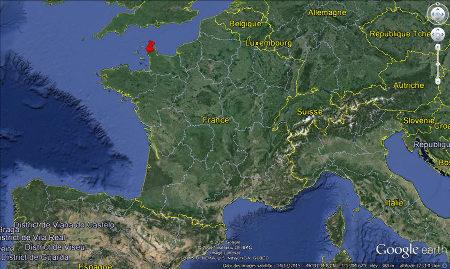 Localisation des stromatolithes cambriens de Barneville-Carteret et Saint-Jean-de-la-Rivière (Manche)