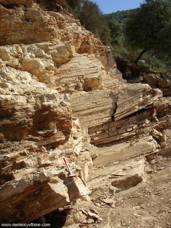 Vue d'une partie du gisement de Haqil (Liban)