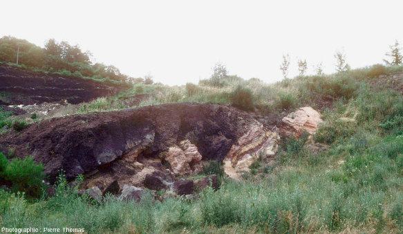 L'affleurement des Hauts de Boisséjour vu sous un autre angle en 1983