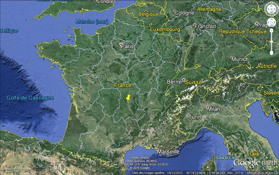 Localisation de Boisséjour dans la commune de Ceyrat, banlieue Sud-Ouest de Clermont-Ferrand