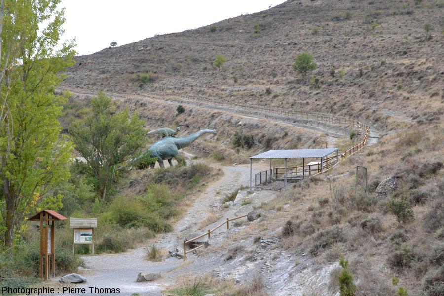 Vue globale sur un site de la route des dinosaures de La Rioja (Espagne)