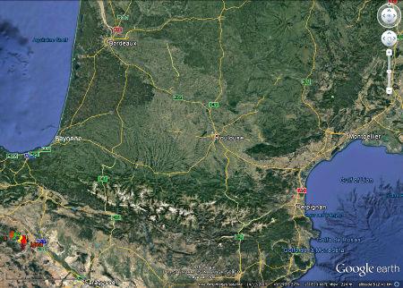 Localisation des 4 sites de la route des dinosaures (la Rioja) et de la ville d'Igea où se trouve un musée de paléontologie