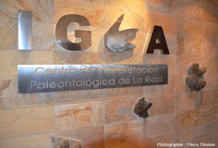 Entrée du musée d'Igea, le Centre d'Interprétation Paléontologique de La Rioja (Espagne)