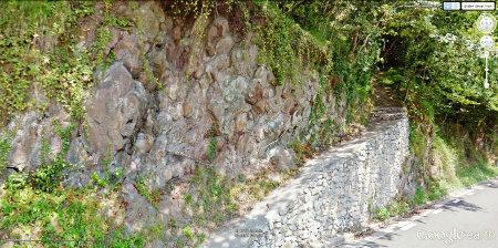 Vue démontrant la grande facilité d'accès de ce site à pillow-lavas près de Bilbao