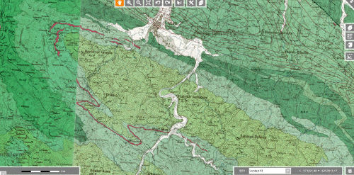Extrait des cartes géologiques au 1/50000 de Mauléon-Licharre et d'Iholdy