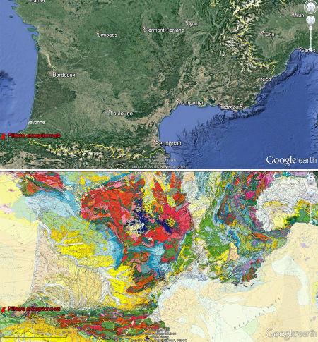 Localisation géographique et géologique de l'affleurement d'Eibar, Pays Basque espagnol