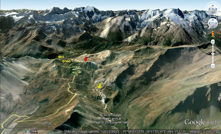 Vue du flanc Nord du Col du Galibier (Savoie)