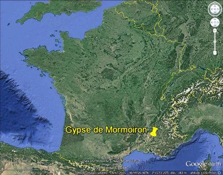 Localisation générale des gypses de Mormoiron et du bassin de Carpentras (Vaucluse)