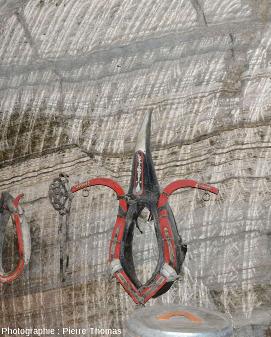 Une faille normale partiellement cachée par un collier de cheval