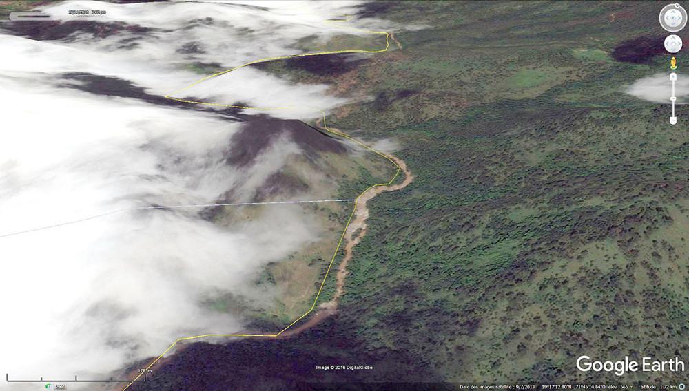 Même secteur de la frontière Haïti / République dominicaine après un épisode cyclonique