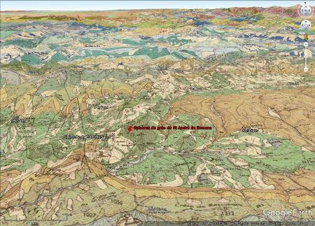 Carte géologique centrée sur le synclinal de Rosans, synclinal à cœur d'Albien