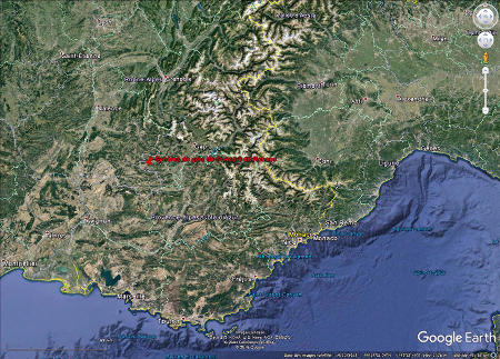 Localisation de Saint-André-de-Rosans, à l'Ouest du département des Hautes Alpes