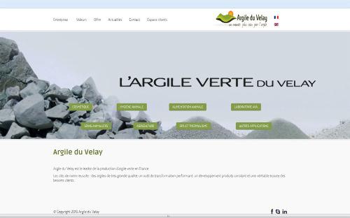 """Page web du site de la société """"Argile du Velay"""" présentant ses principaux usages"""