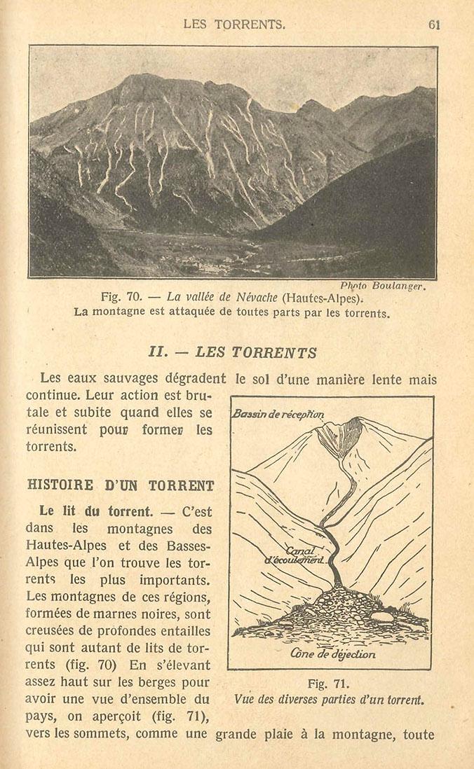 """Archétype d'un système torrentiel, tel que devait le connaitre les """"petits Français"""" qui fréquentaient la classe de quatrième en 1925"""