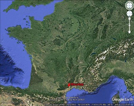 Localisation du cirque de Mourèze dans le Languedoc