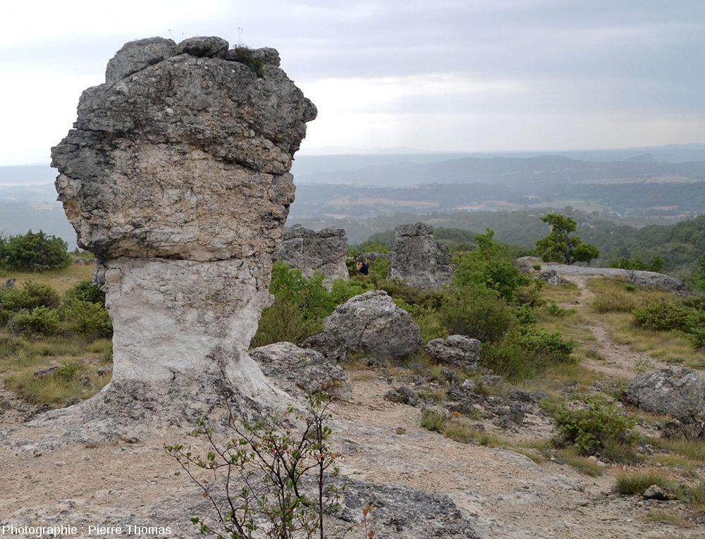 Rocher en forme de champignon dans le secteur des Mourres, Forcalquier (Alpes de Haute Provence)