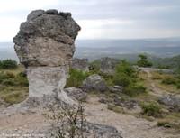 Les étranges rochers des Mourres (Forcalquier, Alpes de Haute Provence)