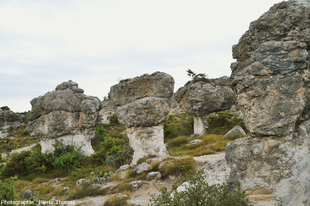 Autres rocher en forme de champignon dans le secteur des Mourres, Forcalquier (Alpes de Haute Provence)