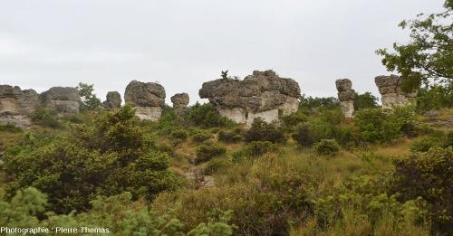 En se promenant parmi les rochers, dans les Mourres, Forcalquier (Alpes de Haute Provence)