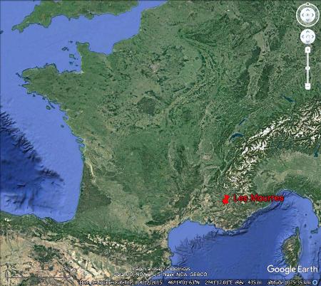 Localisation des Mourres, Forcalquier (Alpes de Haute Provence)
