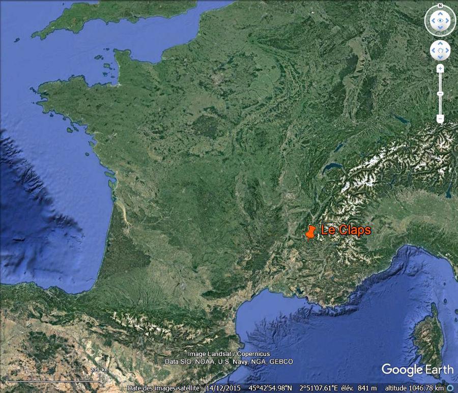 Localisation du Claps Luc en Diois (Drôme)