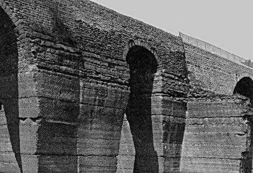 Détail d'une vieille carte postale montrant le côté Nord du Pont des Carrières tel qu'il était début du XXème siècle