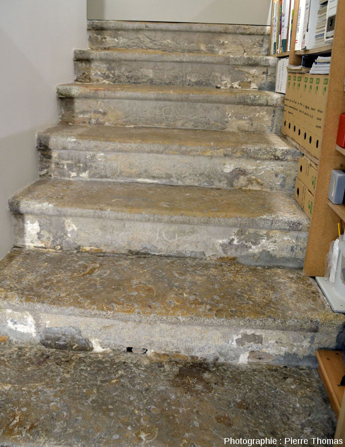 Escalier intérieur d'une vieille maison lyonnaise