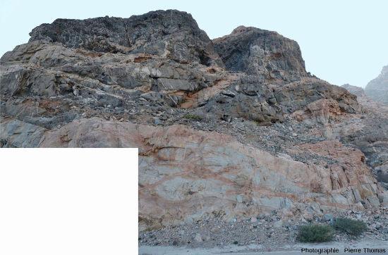 Un autre affleurement sur la route n°49, Oman