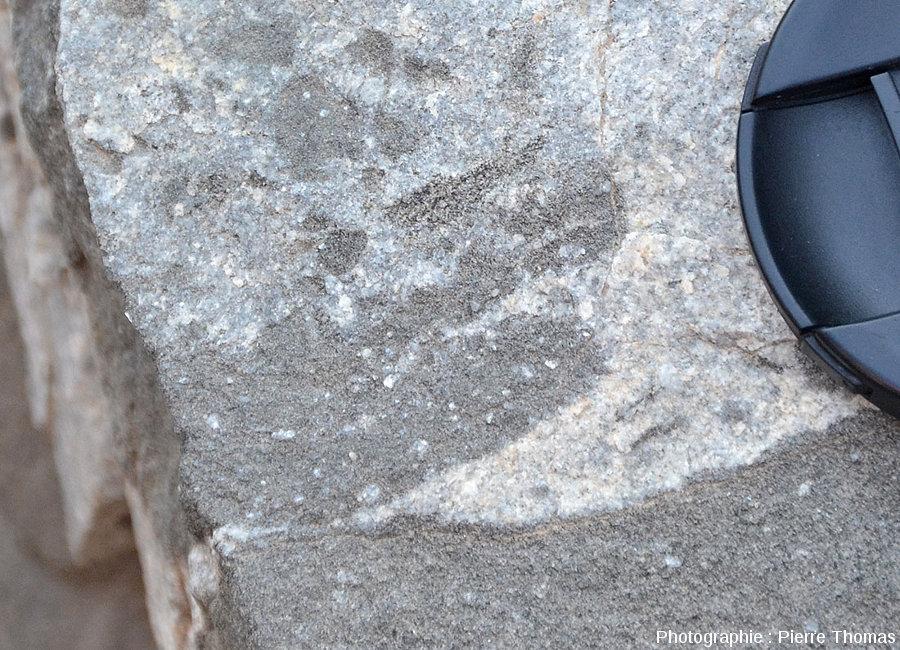 Détail de la figure précédente, avec granite, gabbro et échanges minéralogiques et/ou chimiques