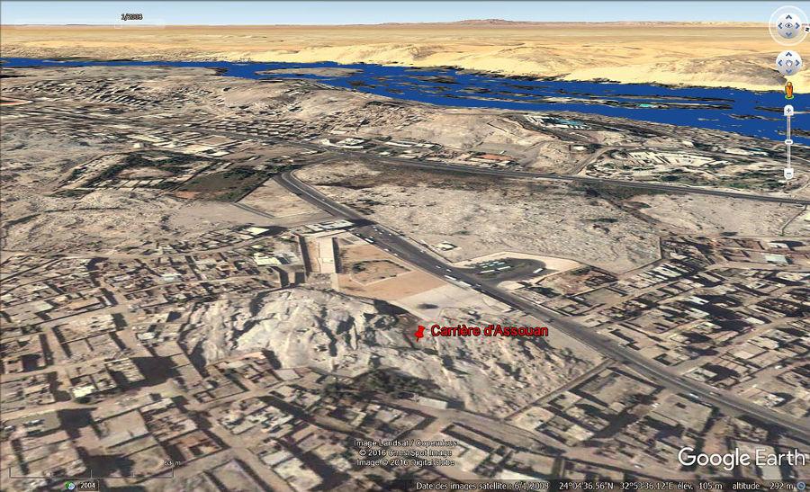 La carrière de l'Obélisque inachevé dans l'agglomération d'Assouan (Égypte)