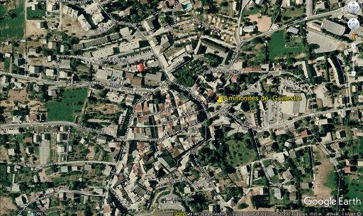 Localisation de la place Joseph Salva au centre de Guillestre (Hautes Alpes)