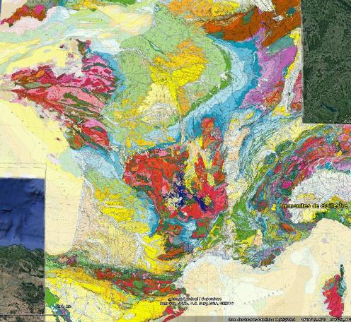 Localisation de Guillestre sur la carte géologique de France