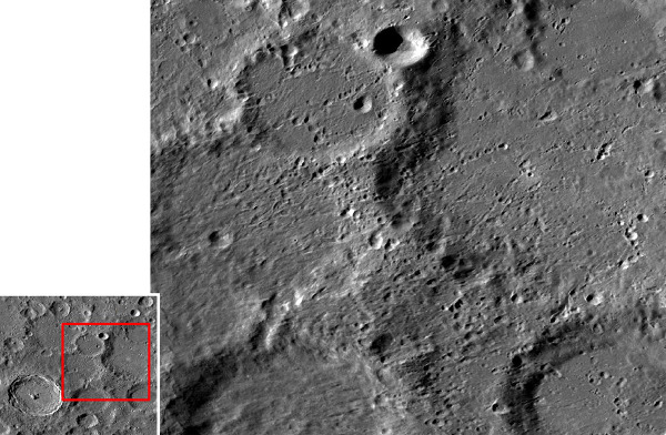 Détails sur les chaines de cratères secondaires visibles au Nord-Est de Tycho, sur la Lune