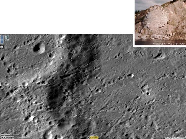Zoom sur les chaines de cratères secondaires du Nord-Est de Tycho, sur la Lune