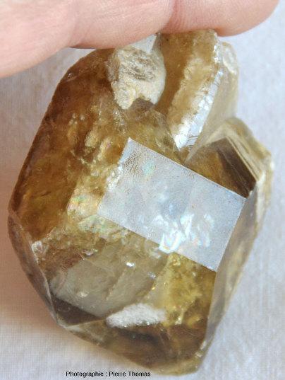 Deuxième cristal de barytine provenant de la Côte d'Abot, commune de Saint Saturnin, Puy de Dôme