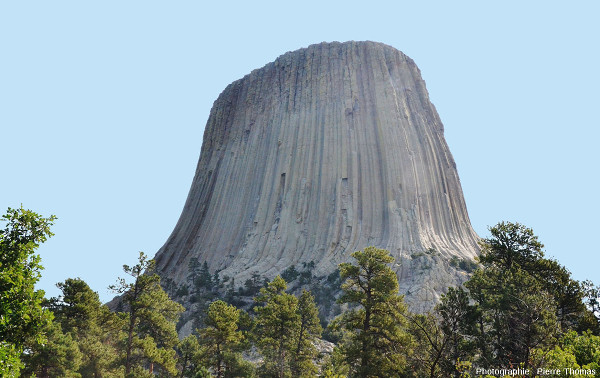 La Tour du Diable depuis l'Ouest,Devils Tower, Wyoming, USA