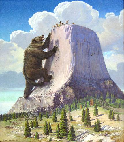 L'origine de la Tour du Diable selon une légende des tribus Lakota et Kiowa