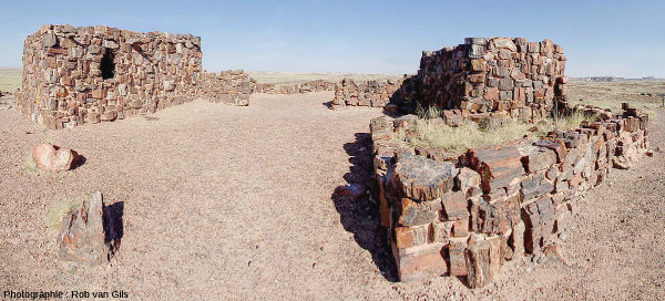 La « Maison d'agate » (Agate House) dans le Petrified Forest National Park, Arizona (USA)