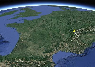 Localisation du Désert de Platé (Haute Savoie), dans les Alpes françaises