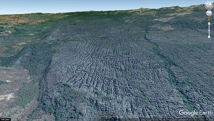 Vue aérienne d'une partie des Tsingy de Bemaraha, Madagascar